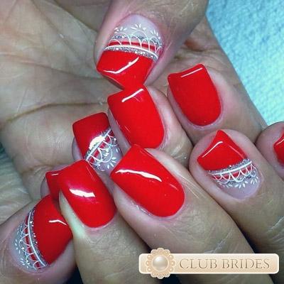 Ярко красные ногти дизайн