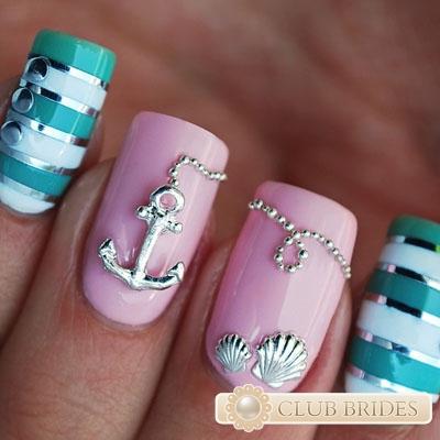 Фото ногтей с морской тематикой