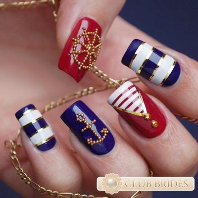Фото ногти морской стиль